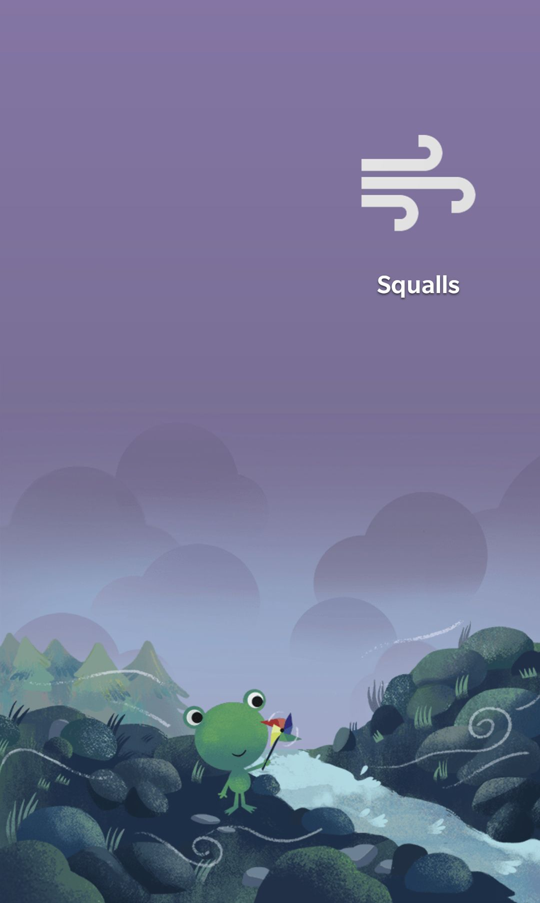 Android Google weather frog squalls windy Frog