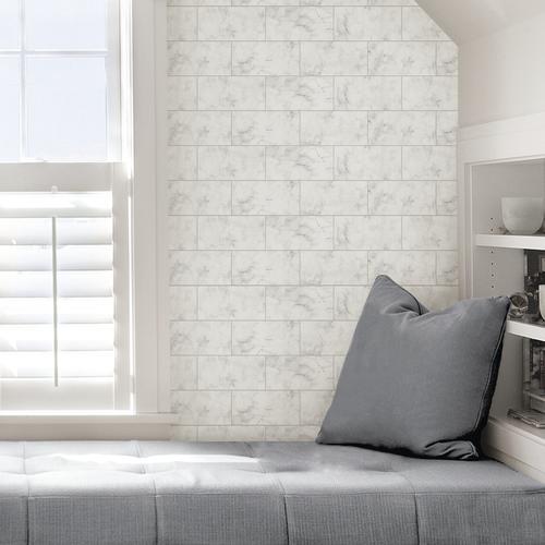In Home Metro Carrara Peel Stick Wallpaper Peel And Stick Wallpaper Home Home Decor