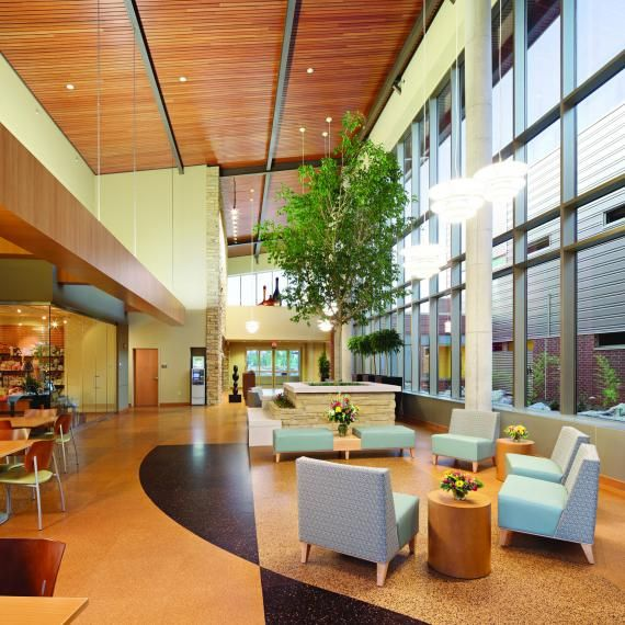 green design and architecture are used to build a leed certified rural hospital - Interior Design Leed Certification
