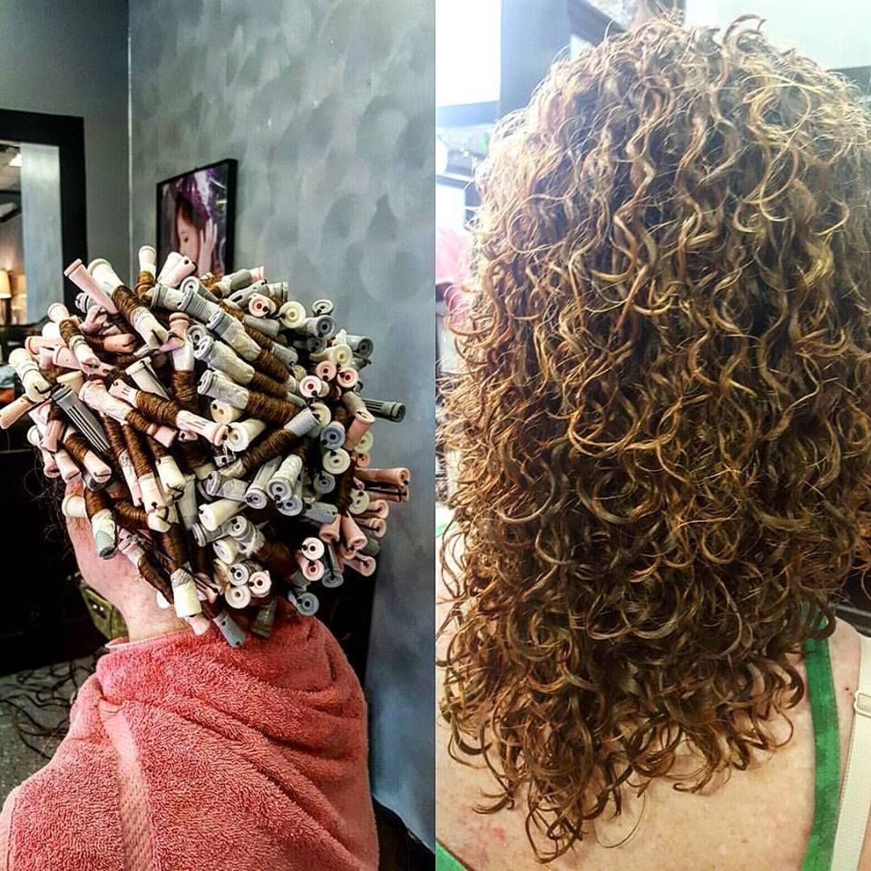 Gorgeous Spiral Piggyback Perm On Various Rod Sizes (With