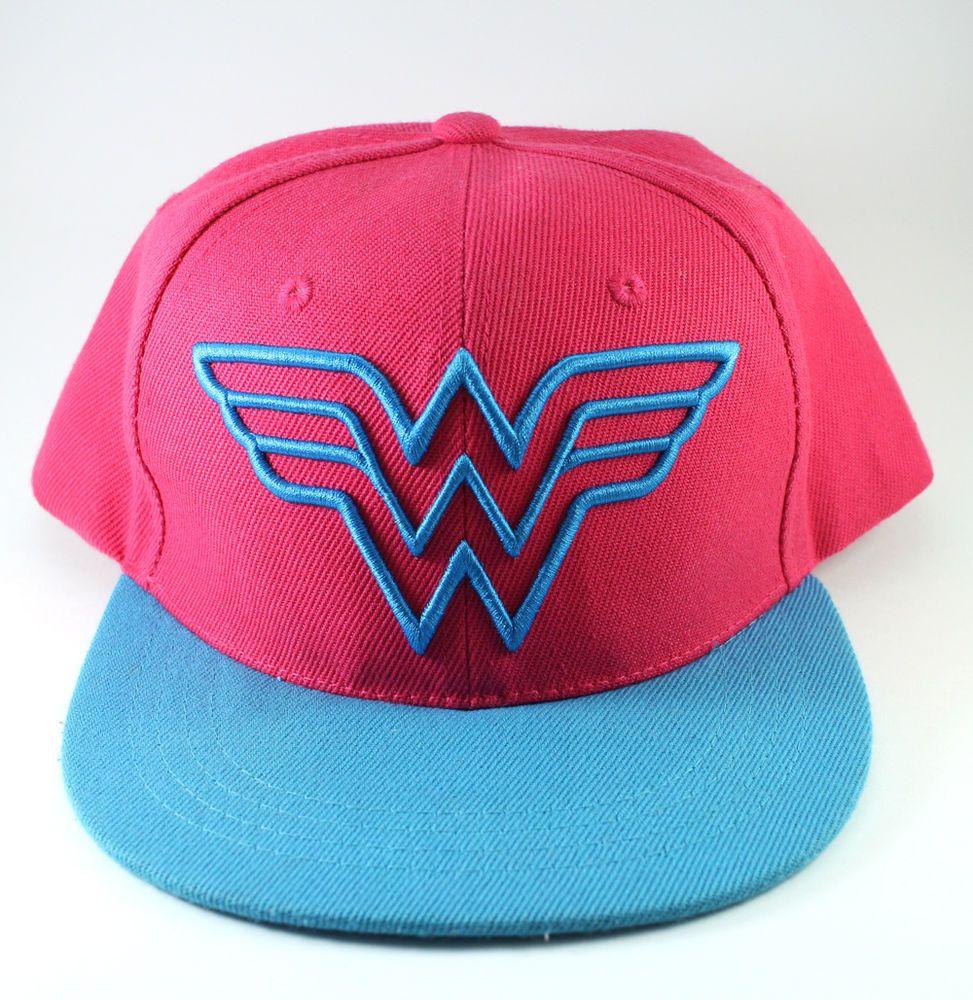 Wonder Woman Hot Pink Blue Snap back Hat  SixFlags  BaseballCap   SnapbackHat  WonderWoman  DianaPrince  DCComics  JusticeLeague bdb03b638d3