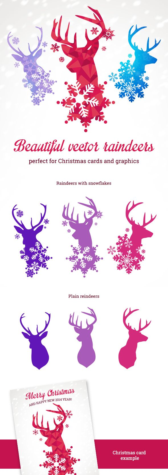 Beautiful Vector Reindeers