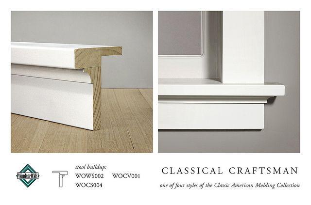 Classical Craftsman Stool Apron Molding Buildup Moldings And Trim Craftsman Style Doors Craftsman Window Trim