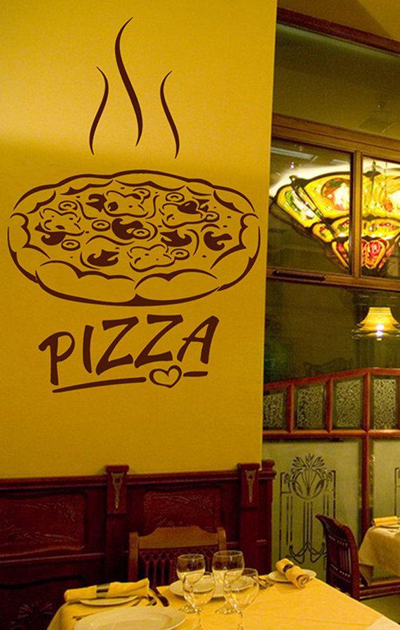 kik1066 Wall Decal Sticker Pizza mushroom Italian Restaurant ...