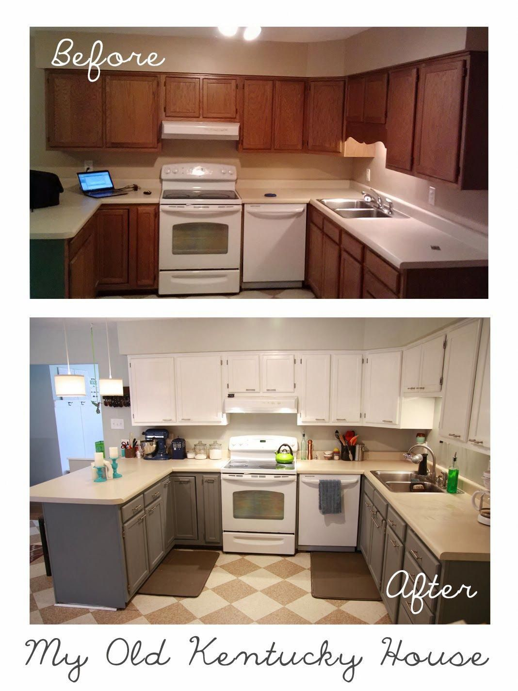 Kitchen Cabinets Before And After My Old Kentucky House Homeremodelingbeforeandafter Kitchen Cabinets Before And After Update Kitchen Cabinets Kitchen Design