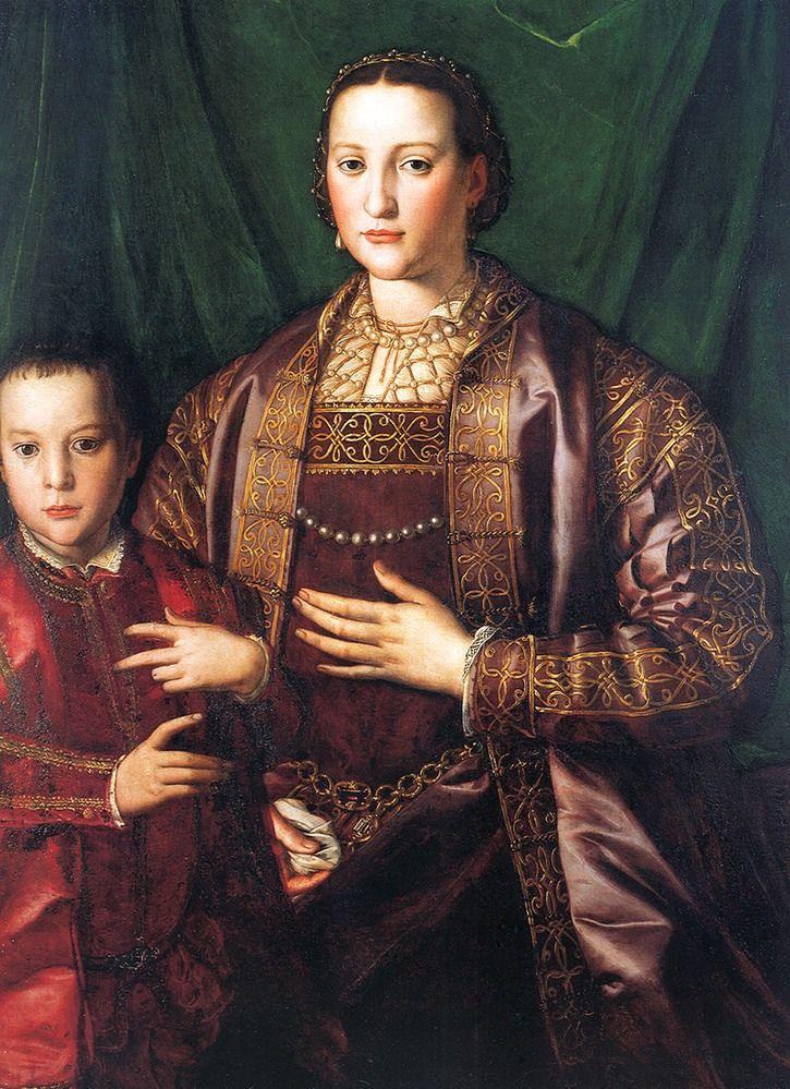 1549 Eleonora of Toledo and her son Francesco by Angnolo Bronzino (Museo Nazionale di Palazzo Reale - Pisa Italy)