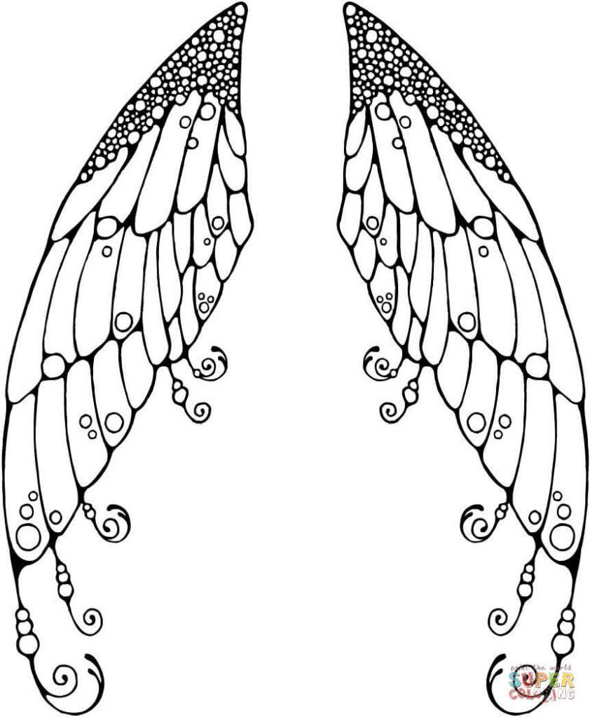 Butterfly Wings Coloring Page Youngandtae Com In 2020 Fairy Coloring Pages Butterfly Coloring Page Fairy Coloring