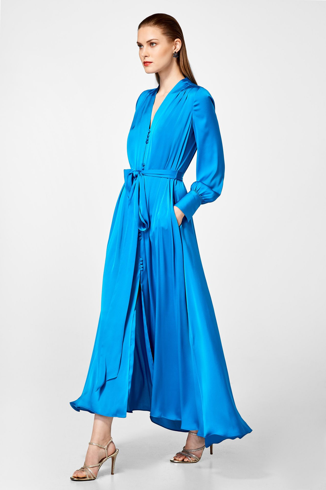04f0b88b7 Pedro del Hierro Vestido camisero largo Azul