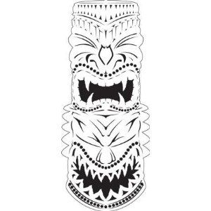 TIKI 4-FACE/GOD AIRBRUSH STENCIL-AIR BRUSH TEMPLATE-ART