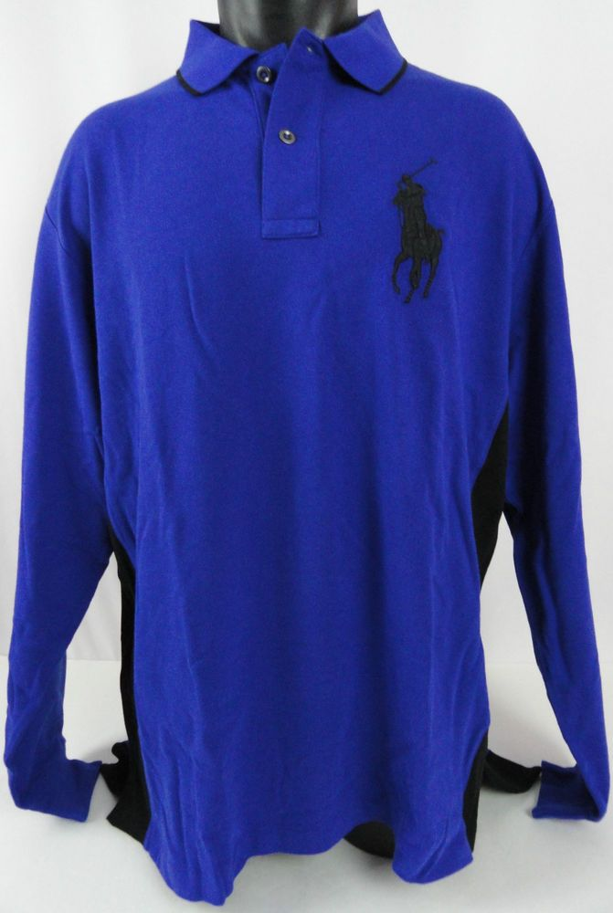 Nwt Polo Ralph Lauren Mens Xlt Rugby Shirt Big Pony Royal