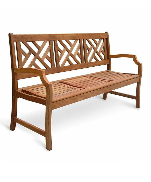 look at this crosshatch outdoor bench on zulily today design style rh pinterest at