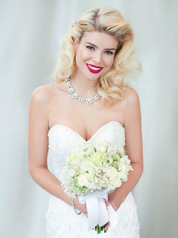 Dress: Angelina Faccenda, Style 1281 Necklace and hair pin: Elsa Corsi Bracelet: White Toronto Ring: Pamela Lauz Bouquet: Pink Twig