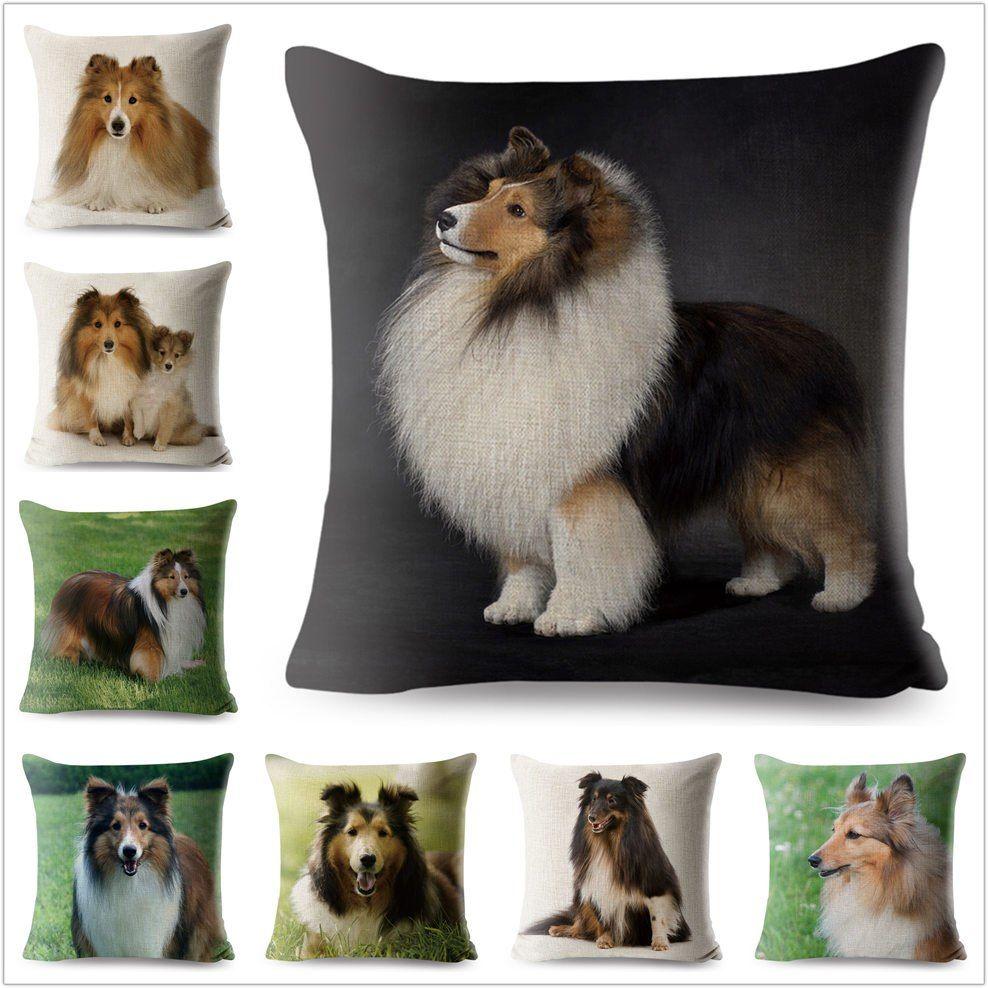 45x45 Cm Room Decoration Pillowcase Pet Dog Golden Retriever Cushion Cover Eco Friendly Throw For Sofa Car Chair Almofadas Home & Garden