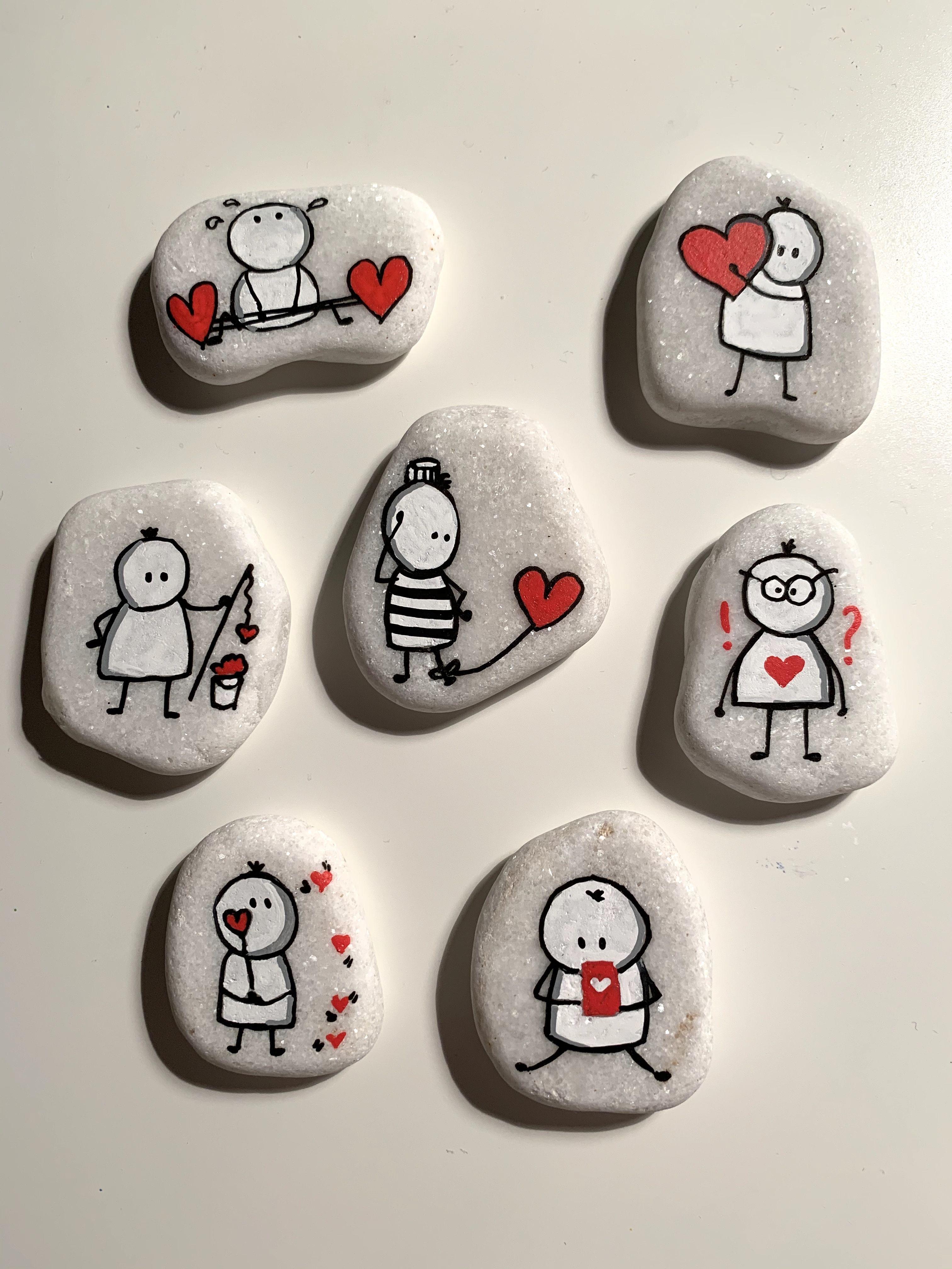 Steinmalerei- Rockart - Glück - Liebe