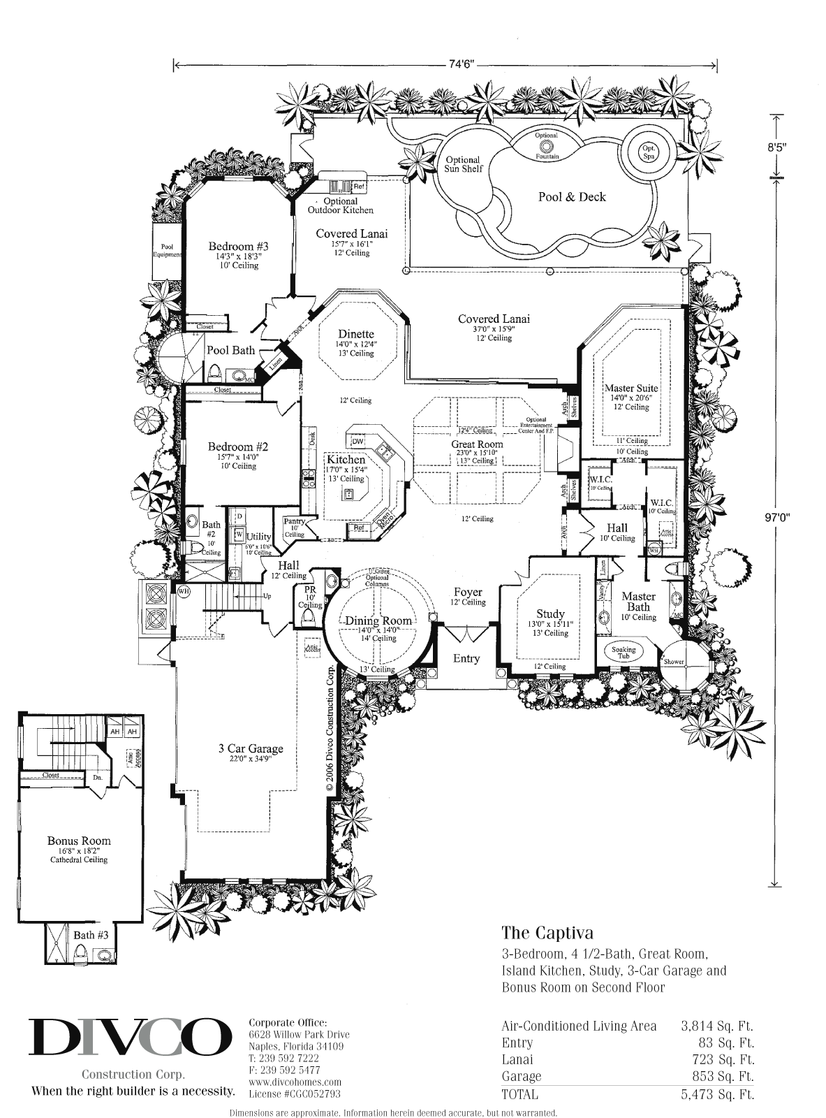 Decoration ideas custom home builder naples florida for Custom dream home floor plans