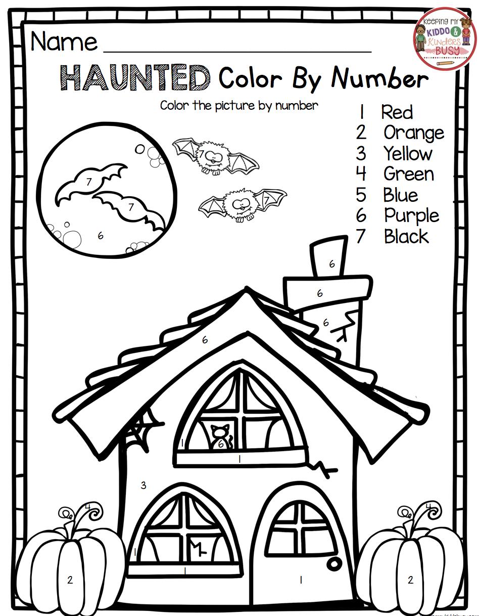 October Math and Literacy Pack FREEBIES Halloween math