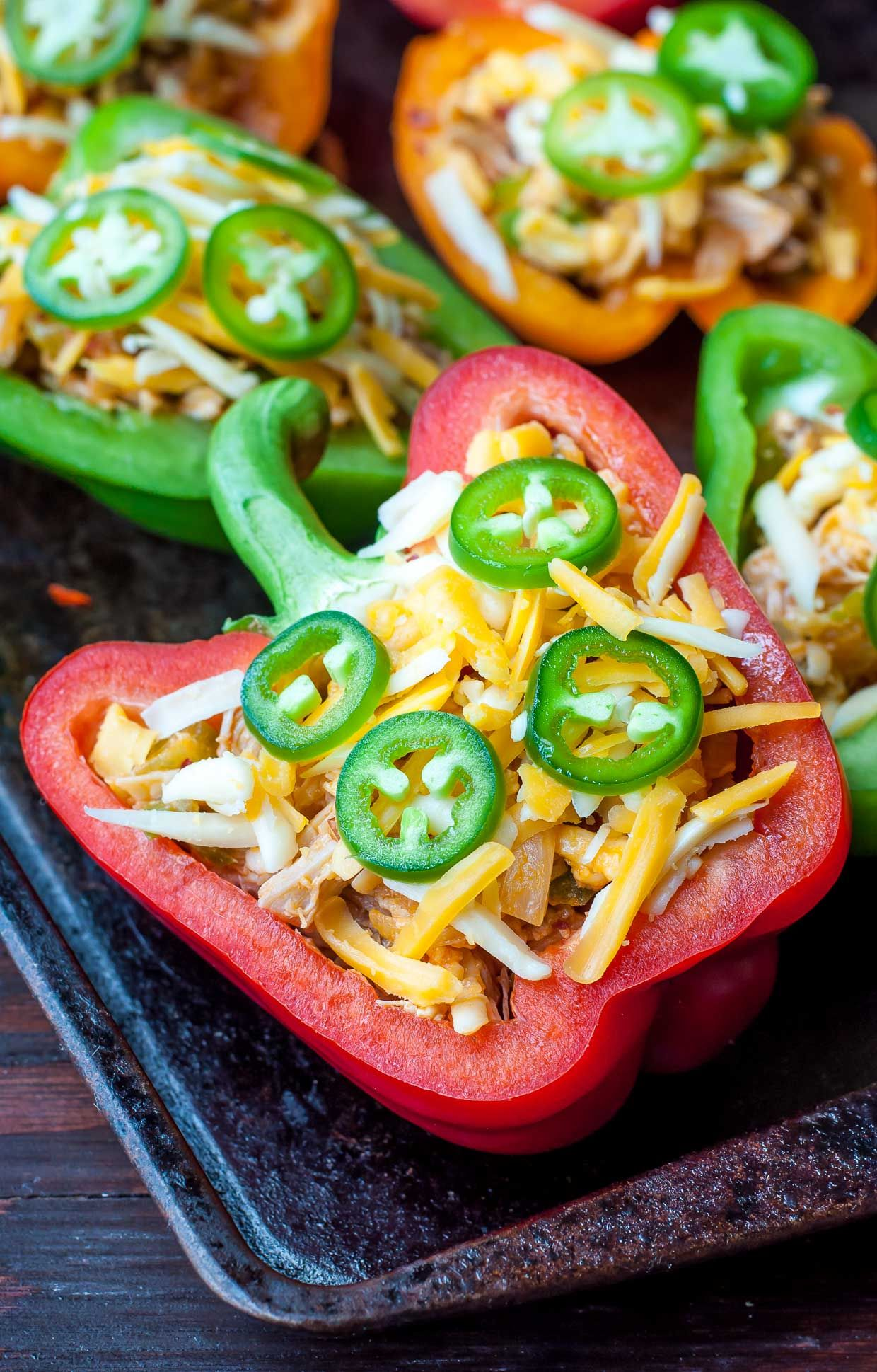 Buffalo Chicken Stuffed Peppers Peas And Crayons Recipe Stuffed Peppers Peppers Recipes Easy Stuffed Pepper Recipe