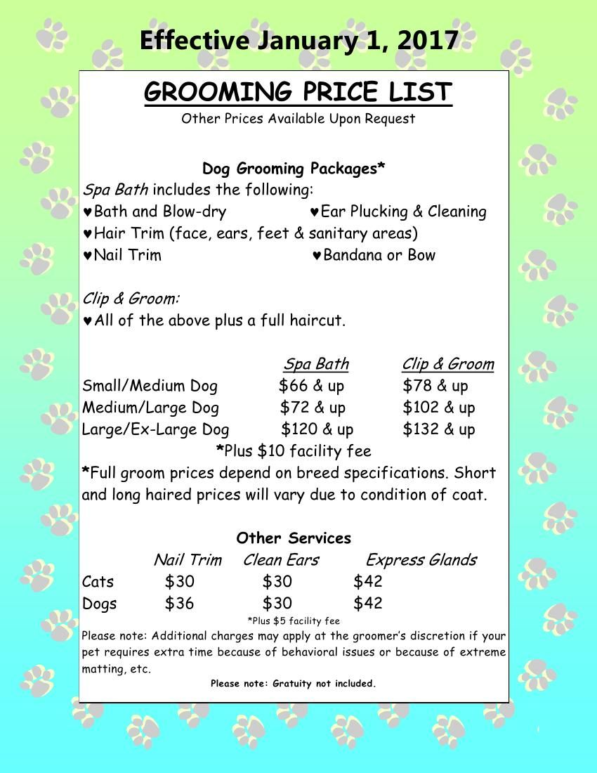 Image result for dog grooming prices Grooming, Dog