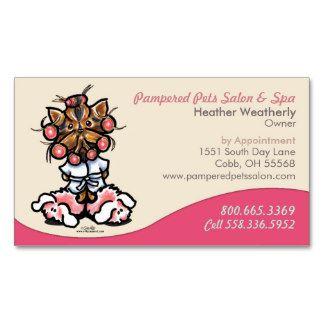 Pink Pet Grooming Business Card