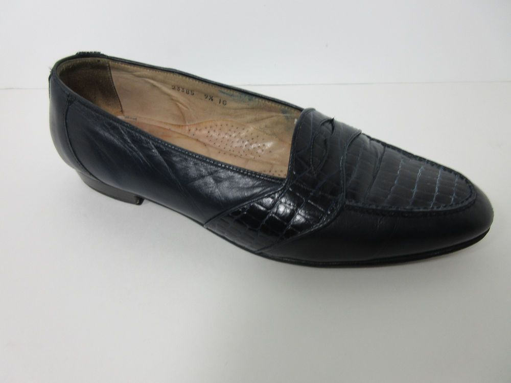STACY ADAMS WHITE MENS LEATHER LOAFERS SHOES SIZE 9.5 m
