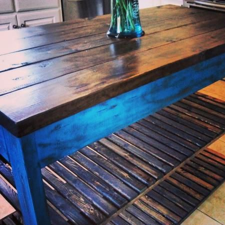 Distressed Paint Kitchen Island | Do It Yourself Home Projects from Ana White
