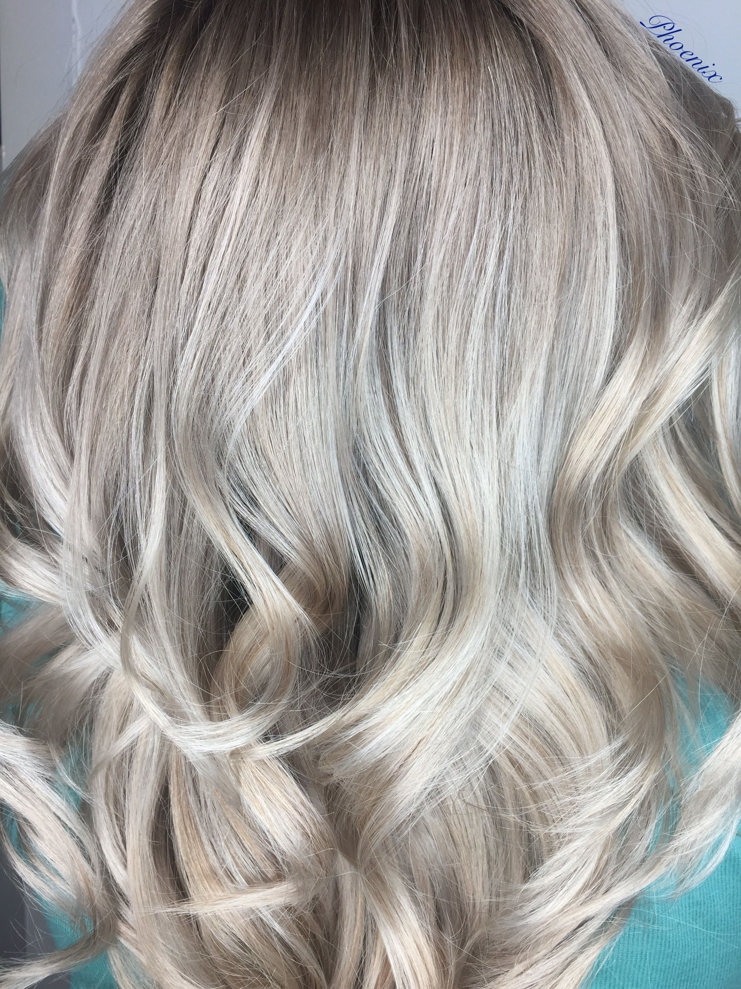 Colour Melt Ice Blonde Matrix Sync Long Hair Ghd Curls Matrix Oil