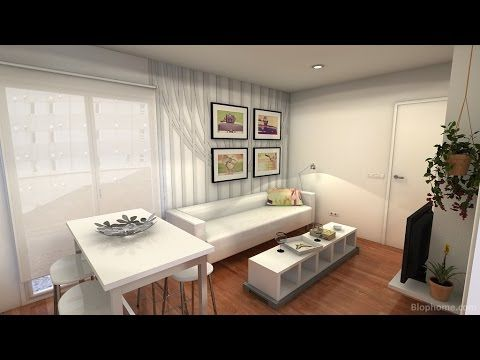 small apartment 25m2 white and clean youtube studio. Black Bedroom Furniture Sets. Home Design Ideas