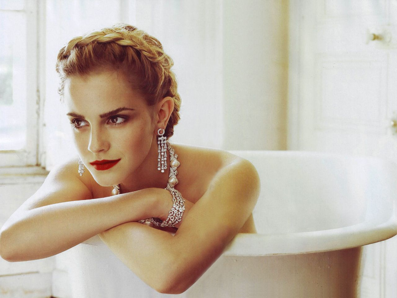 Emma Watson. Not just another naked girl in a bathtub.