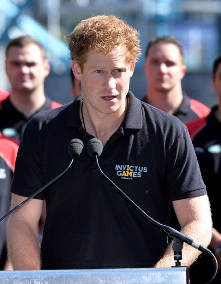 Prince Harry deliver a speech during a photocall ahead of the Invictus Games at Potters Field Park on 13.08.2014 in London, England.