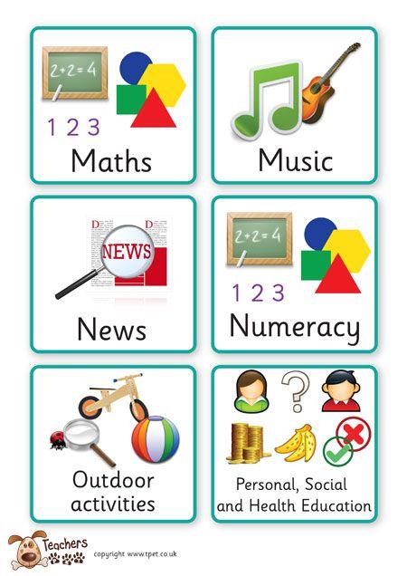 Teacher's Pet Displays » Key Stage One Visual Timetable