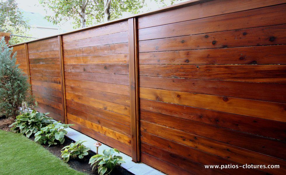 horizontal fence emond 2 fence ideas pinterest cl ture horizontale bois de c dre et c dres. Black Bedroom Furniture Sets. Home Design Ideas