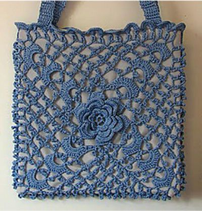 Irish crochet bag ~ free pattern (if I could accomplish this I would ...