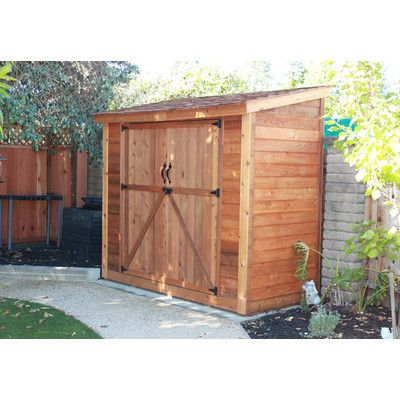 Beautiful Outdoor Living Today SpaceSaver 8.5 Ft. W X 4.5 Ft. D Wood Lean