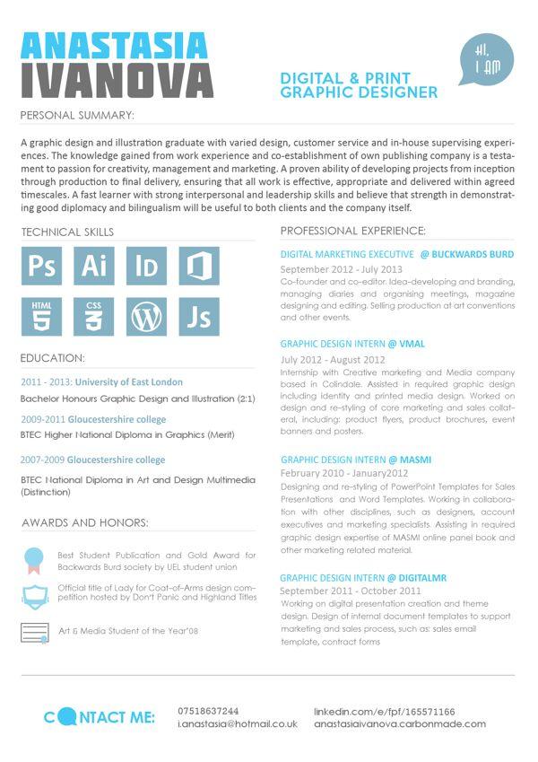 My CV   resume on Behance Resume Design Pinterest Design - my cv resume