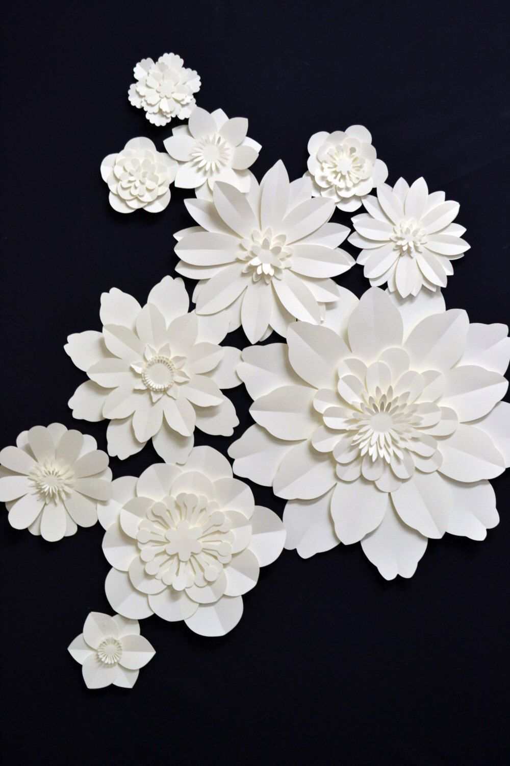 set of paper flowers for wedding decorationcomeuppance
