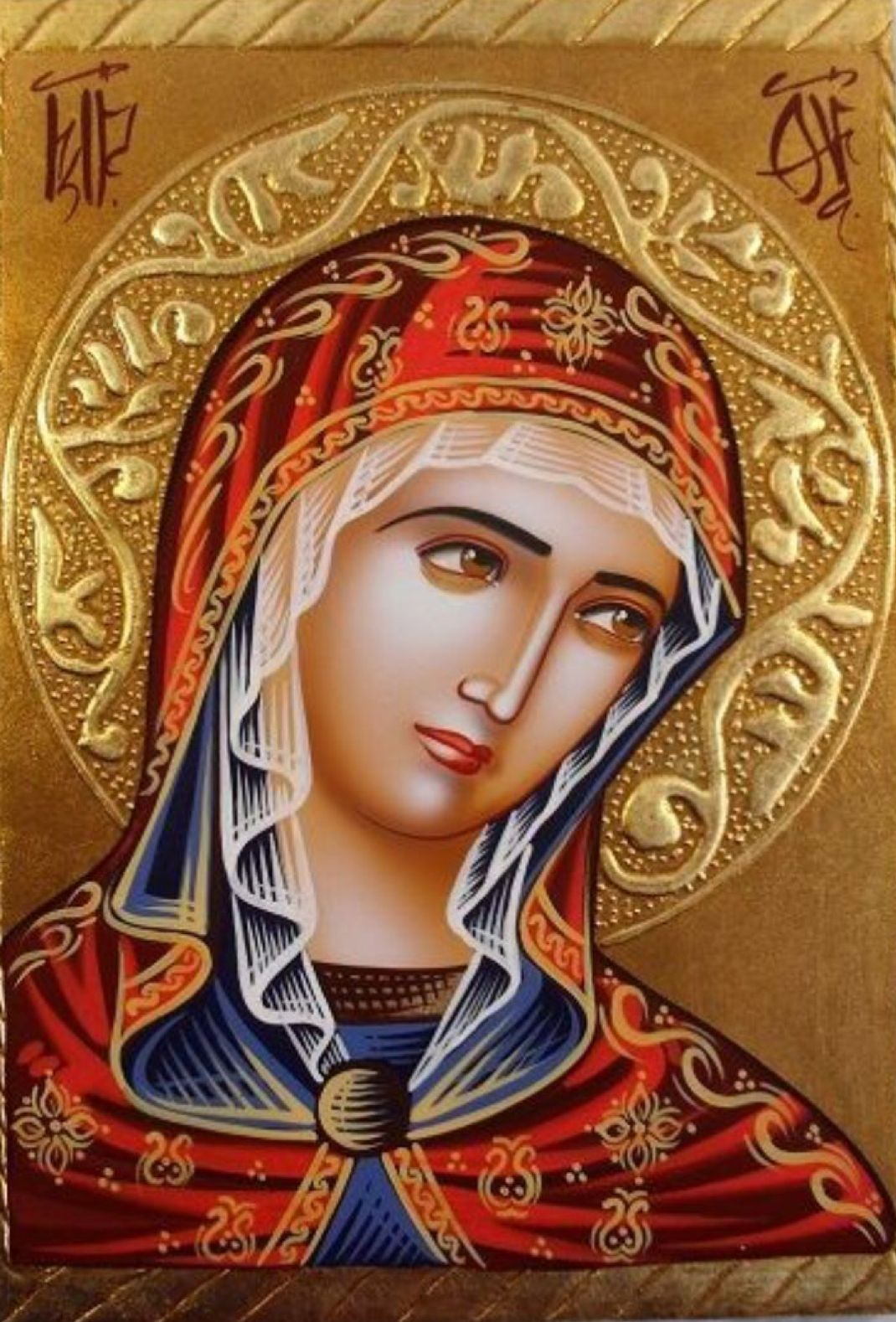 The scheme of the embroidery of the icon Vladimirskaya with beads, embroidery of icons with beads, detailed master classes with diagrams and photo for beginners