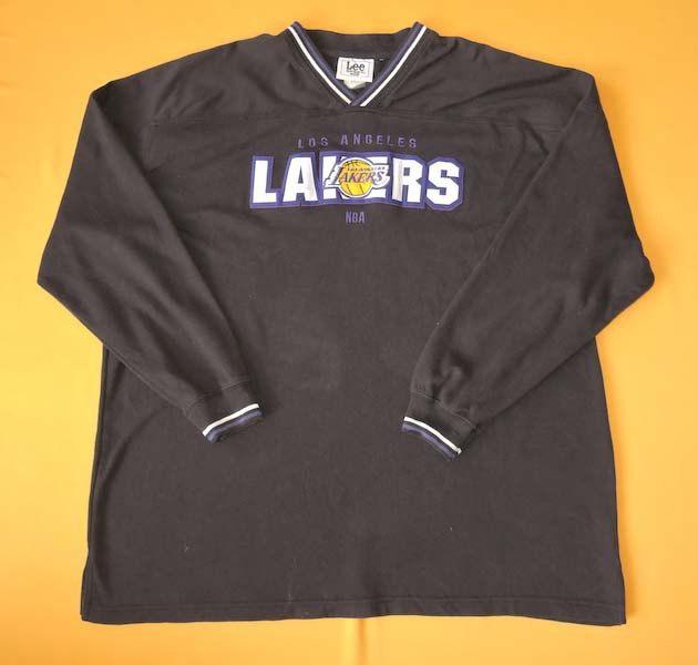 Lee Sport For Los Angeles Lakers Nba Sweater Vintage 90s Pattern Black Pullover Designer Cotton V Neck Jumper Sw Black Pullovers Sweatshirts Los Angeles Lakers