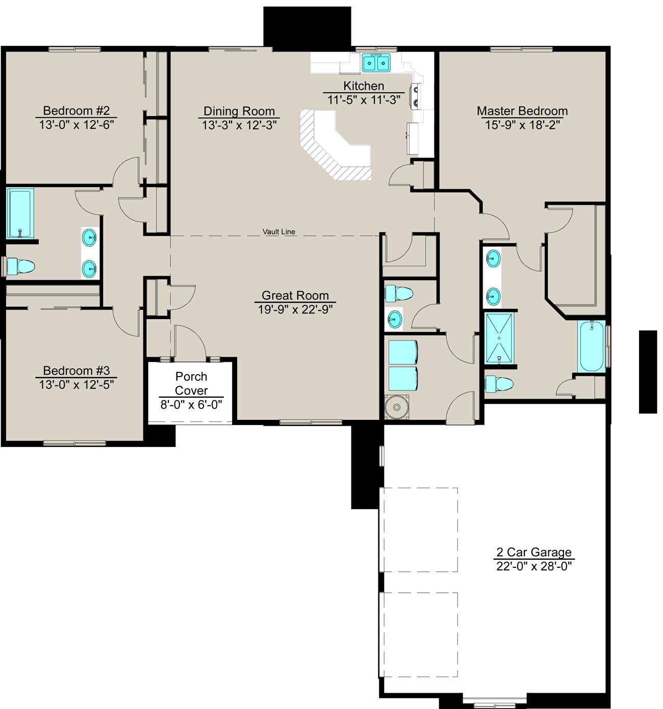 Efficient Kitchen Floor Plans: Lexar Homes Floor Plans