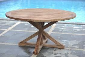 Gartentisch Massivholz Rund Exklusivitat Im Outdoor Bereich Teakmoebel Com Gartentisch Holz Gartentisch Rund Holz Gartentisch