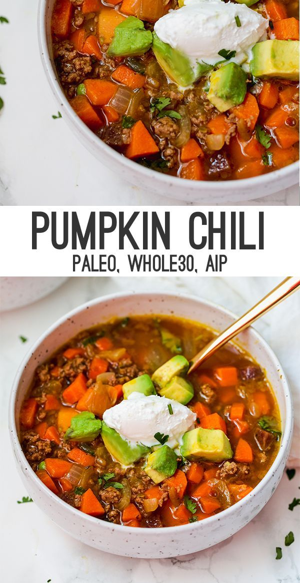 Paleo Pumpkin Chili (AIP, Whole30) images