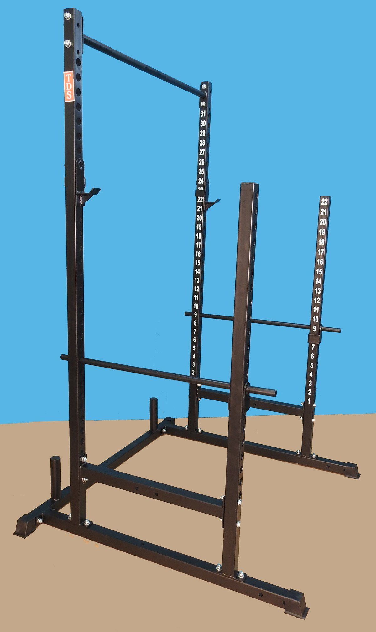 Power, Squat & Open Rack Station, with solid steel Safety bars, 1.25 ...