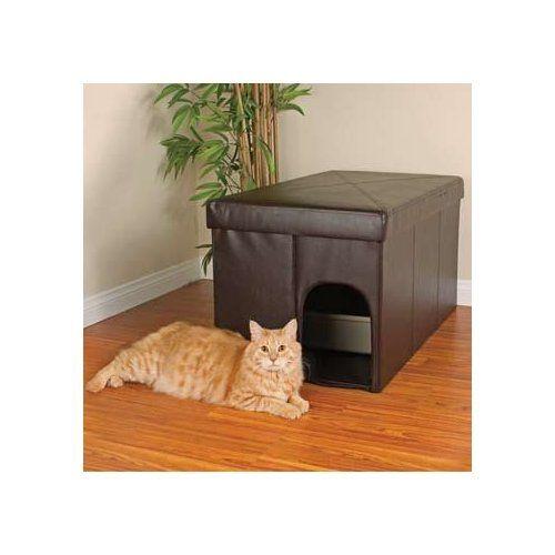 Amazon Com Petco Cat Litter Box Storage Ottoman 20 L X 36 W X 19 H Litter Box Furniture Cat Litter Box Furniture Cat Training Litter Box