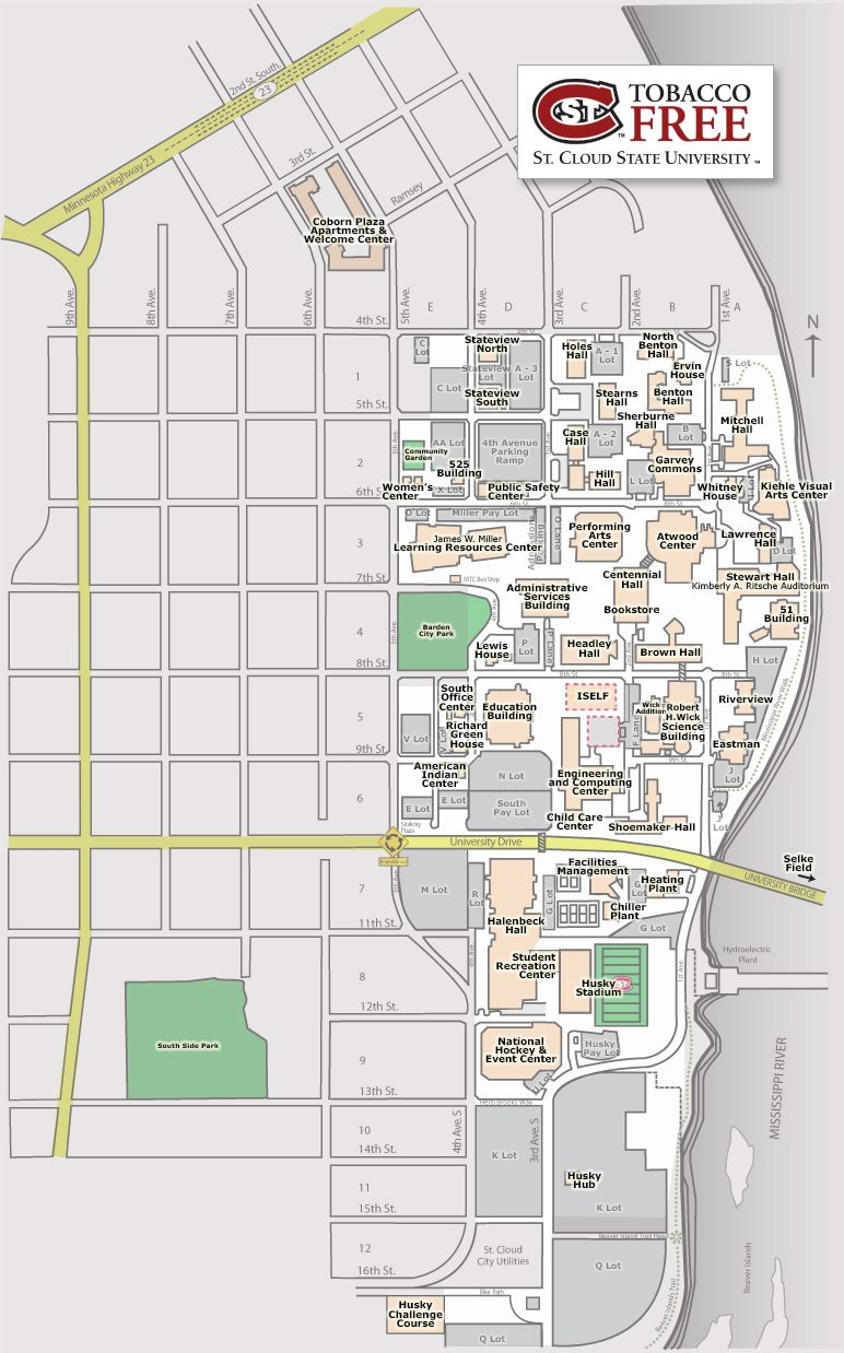Campus map of St. Cloud State | St. Cloud State University