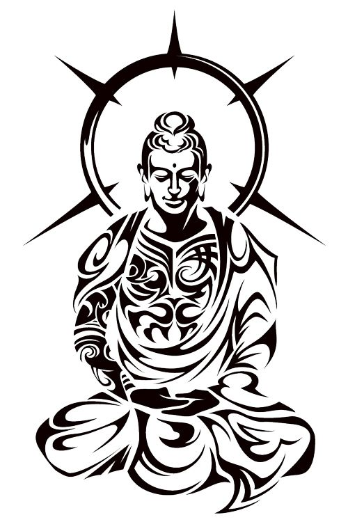 buddha tribal by on deviantart i want a tattoo similar to this that. Black Bedroom Furniture Sets. Home Design Ideas