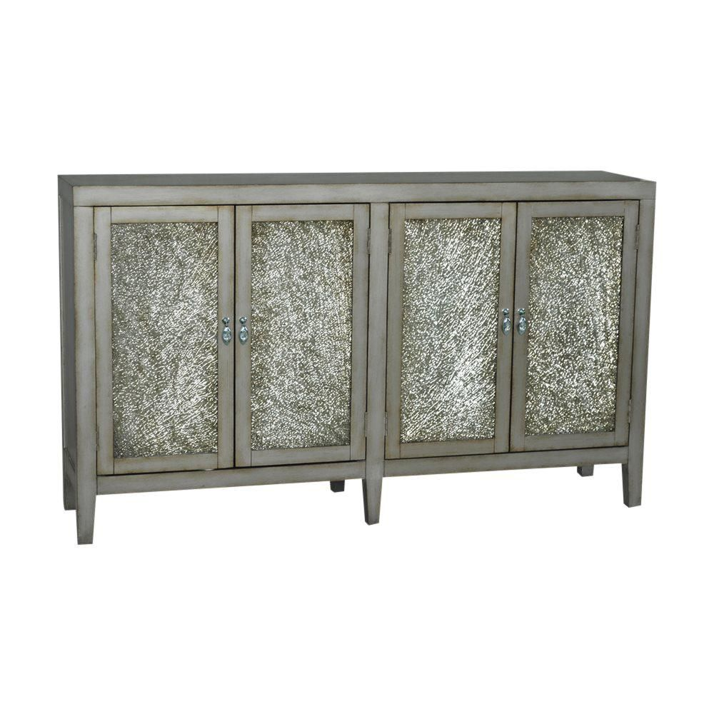 Crackle Glass Sideboard | Glass sideboard, Crackle glass and Glass