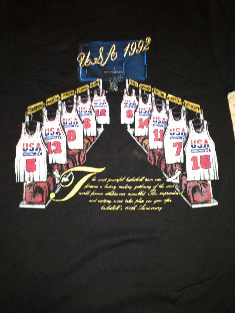 8e40b2a207b99a Vintage 90s 1992 USA Olympic Dream Team T-Shirt Michael Jordan Nutmeg  Basketball
