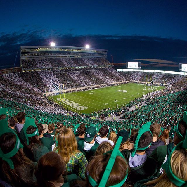 Thank You To All Michigan State Fans For Your Support Last Night Especially Those Who Made Stripeth Michigan State Football Michigan State Michigan State Fan
