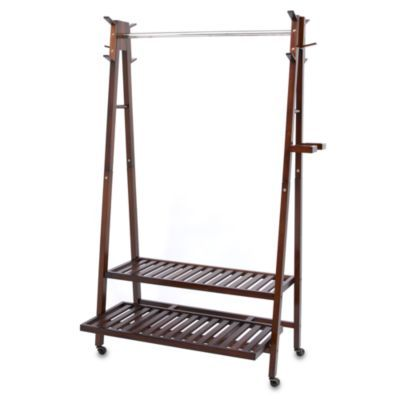 Bed Bath And Beyond Garment Rack Pleasing Solid Wood Aframe Garment Rack  Bedbathandbeyond  Rachel's Design Ideas