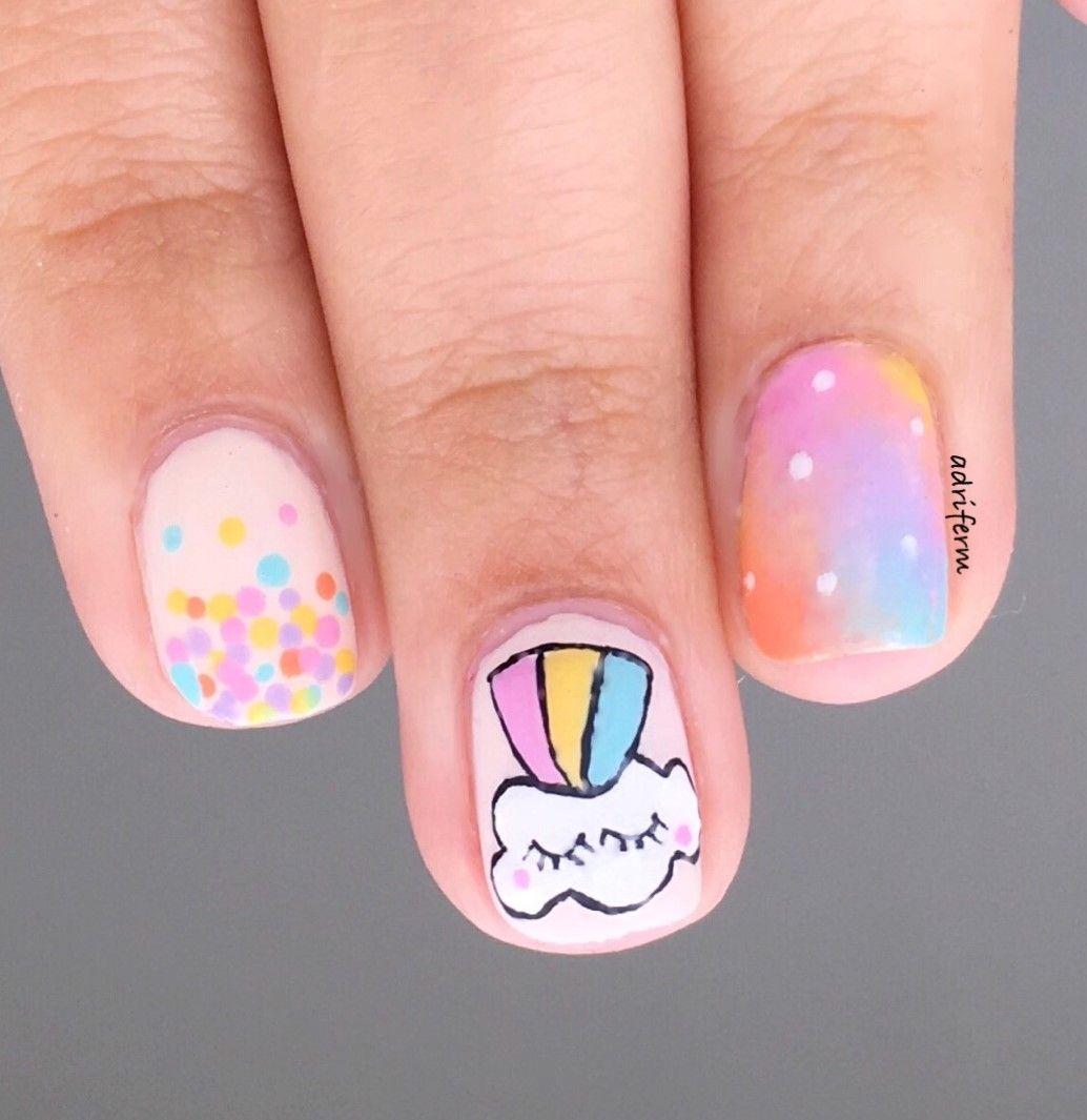 Nube Arcoíris! Siguiendo con la moda de los arcoíris, píntate este ...