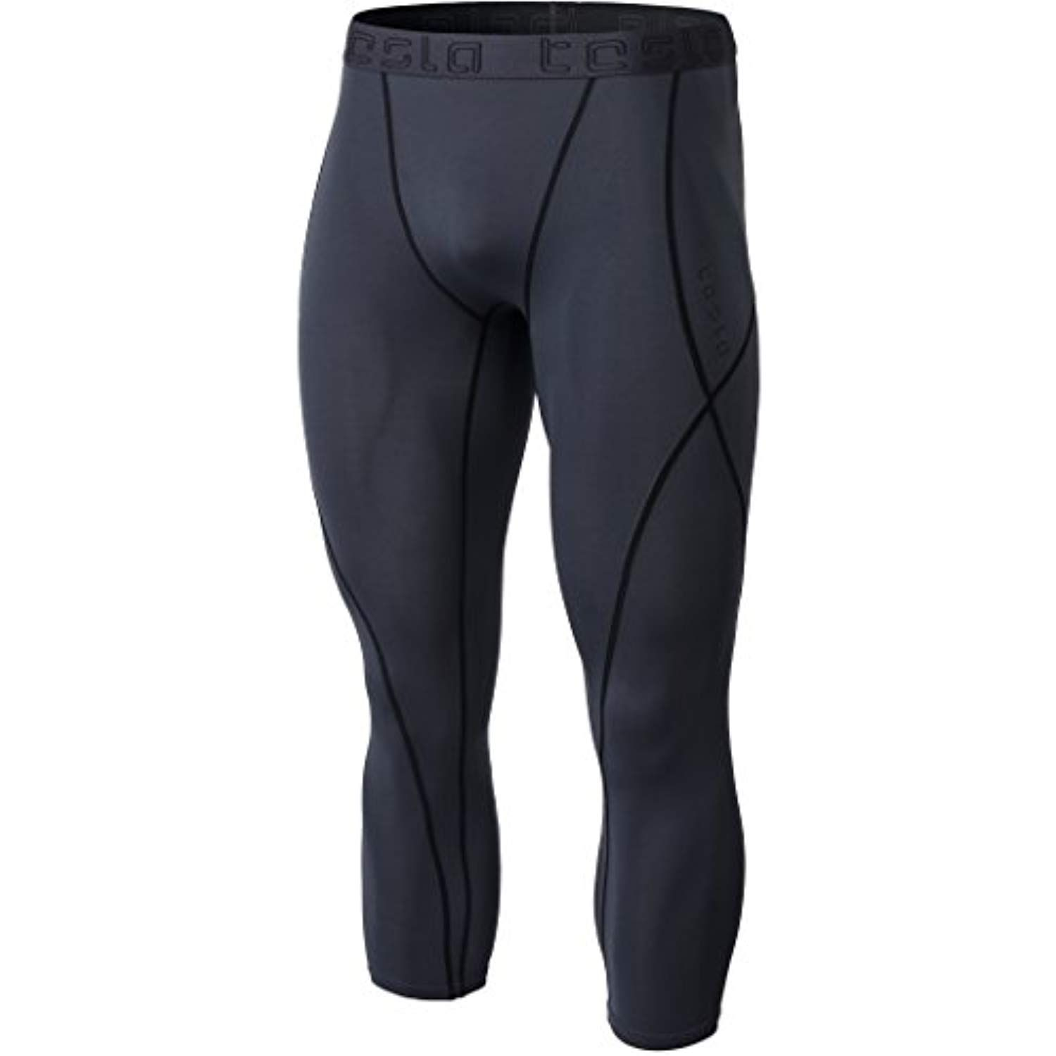 TSLA Mens Pack of 1, 2, 3 Compression Pants Workout Running Baselayer Active Cool Dry Leggings Tights
